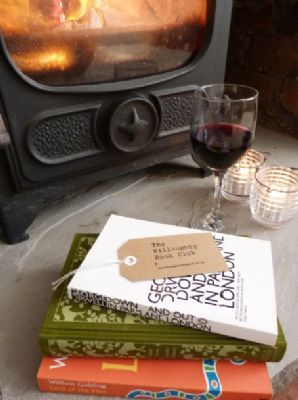 George Orwell, a roaring fire AND a glass of red !? Ur, yes please.